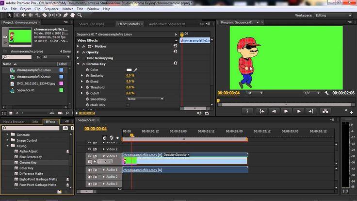 How to Chroma Key/ Green Screen Anime Studio Cartoons