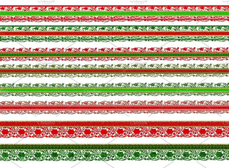 Christmas scrapbook borders lace by Area on @creativemarket