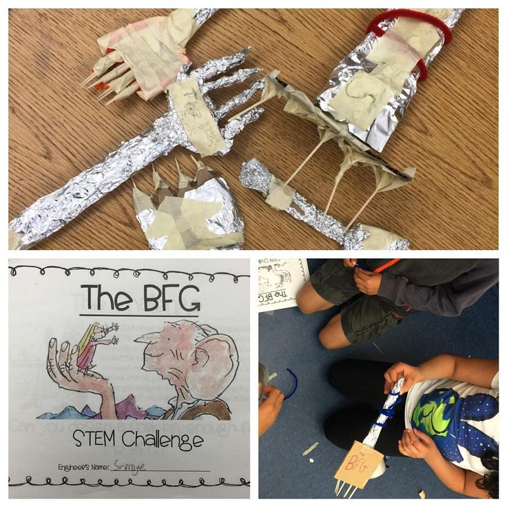 In celebration of finishing our read aloud, The BFG by Roald Dahl, we completed a BFG themed STEM challenge. In one scene of the book, the palace staff is puzzled as to what the BFG will use to eat because he is so big! The butler, Mr. Tibbs, gives him a garden fork. In this challenge, the palace gardener is very unhappy with this and challenges engineers to design and build a prototype of a model the palace staff can build for the BFG to use, instead of letting the giant eat with his…