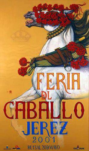 Cartel anunciador de la Feria de Jerez de la Frontera de 2001