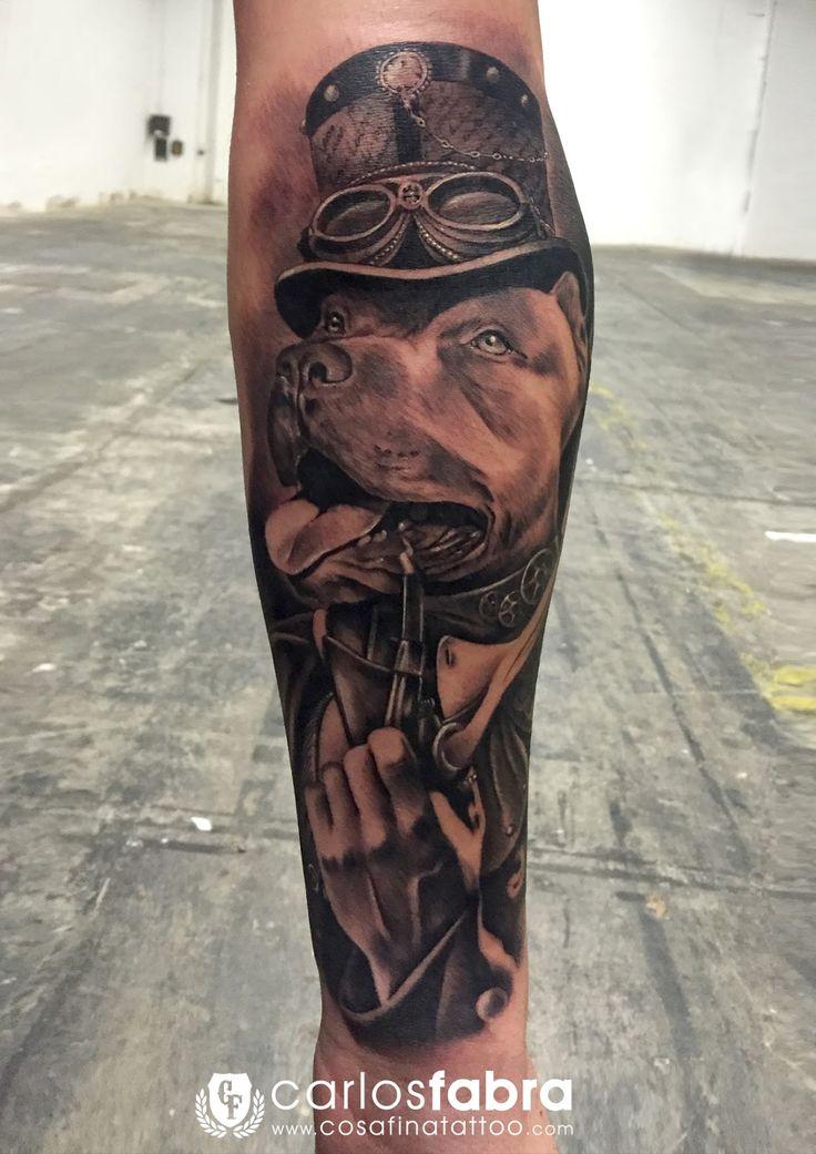 CosaFina tattoo Carlos Art Studio: tatuaje perro humano
