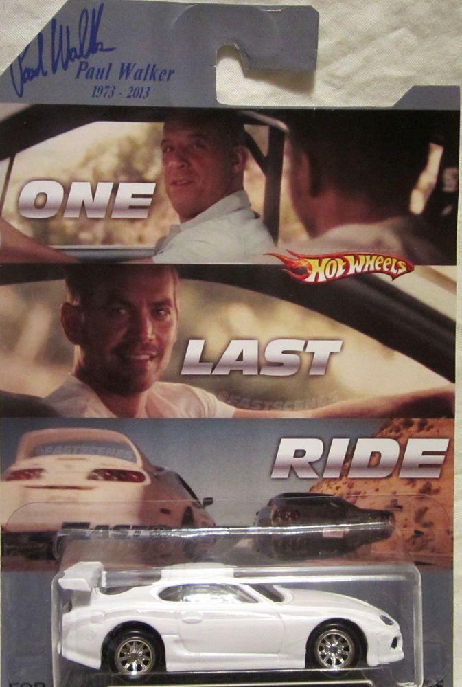 Hot Wheels CUSTOM TOYOTA SUPRA 2015 Fast & Furious RR Paul Walker Tribute LTD #HotWheels #Toyota