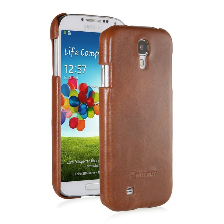 Stilgut Hard Cover [Cognac], Etui dla GALAXY S4