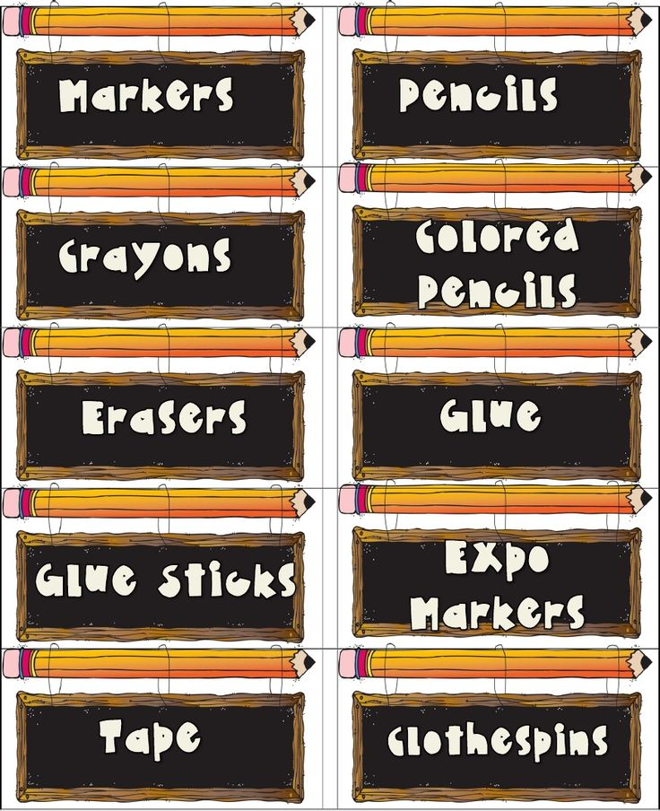 classroom supply labels  free printables from www.theclassroomcreative.com