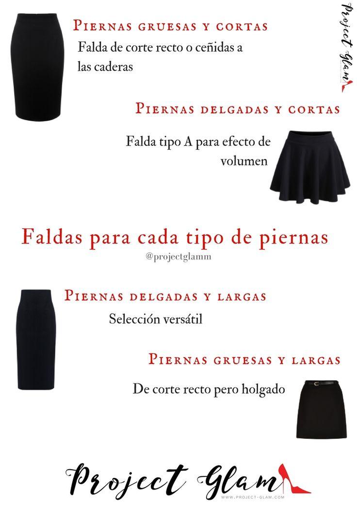 Faldas según tipo de piernas — Project Glam