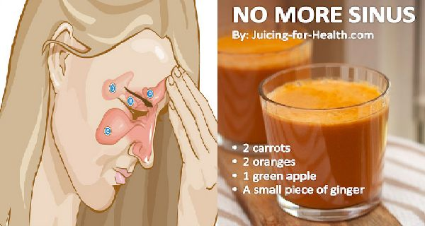 Treat and Prevent Sinus Infection Naturally with this Homemade Juice  http://www.healthyfitlifetime.com/healthy/treat-prevent-sinus-infection-naturally-homemade-juice/