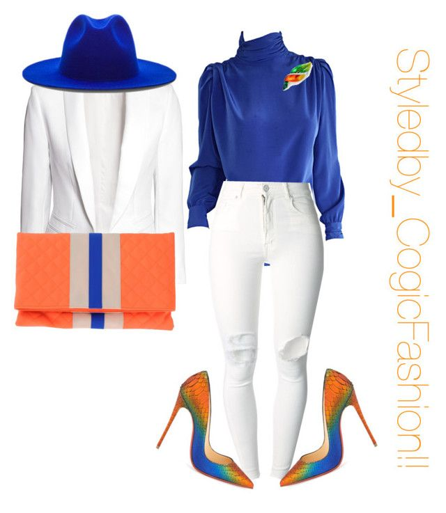 """Untitled #506"" by cogic-fashion ❤ liked on Polyvore featuring H&M, St. John, Tiffany & Co., (+) PEOPLE, Christian Louboutin, Études, MSGM, women's clothing, women's fashion and women"