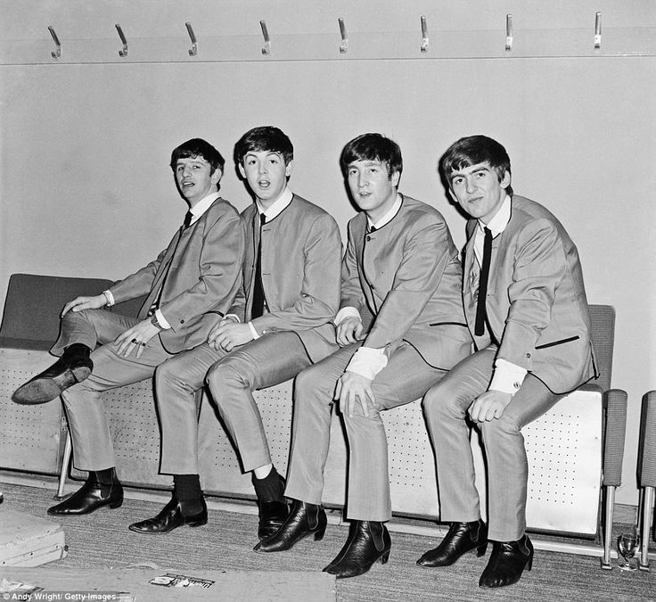 The Beatles backstage at the Fairfield Halls, Croydon, on 25th April 1963 (c)Andy Wright/Getty Images