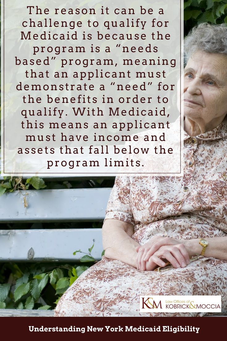 """The reason it can be a challenge to qualify for Medicaid is because the program is a """"needs based"""" program, meaning that an applicant must demonstrate a """"need"""" for the benefits in order to qualify. With Medicaid, this means an applicant must have income and assets that fall below the program limits."""