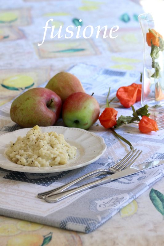 risotto con mele e gorgonzola