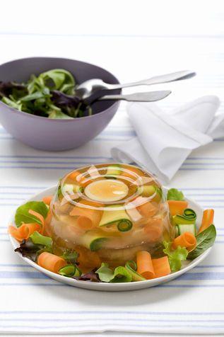Aspic di pollo e verdure