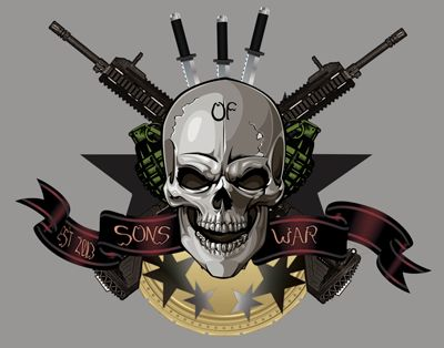 gaming logo for Sons Of War