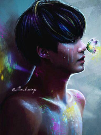 Suga  BTS Bangtan Art by Ellen
