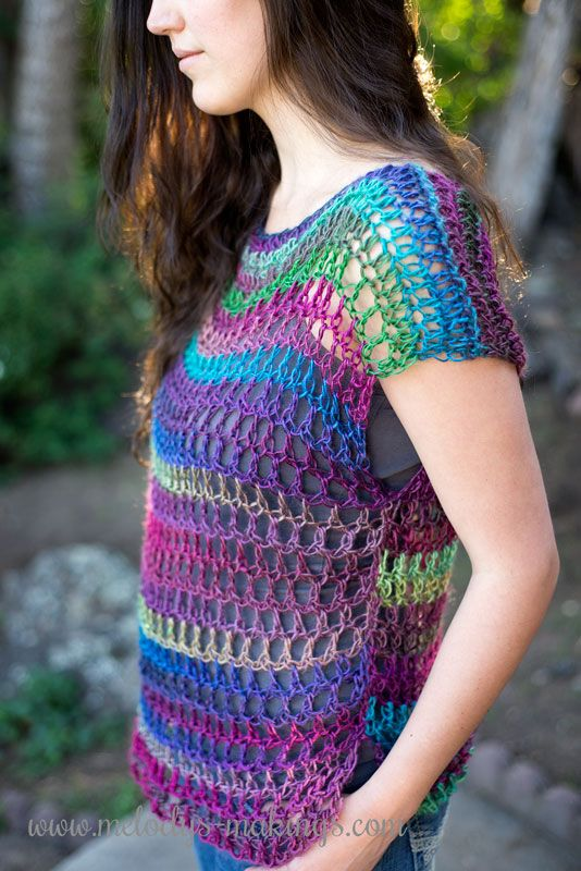 Download your copy of this free, easy Everyday Top crochet pattern! via @MelodysMakings