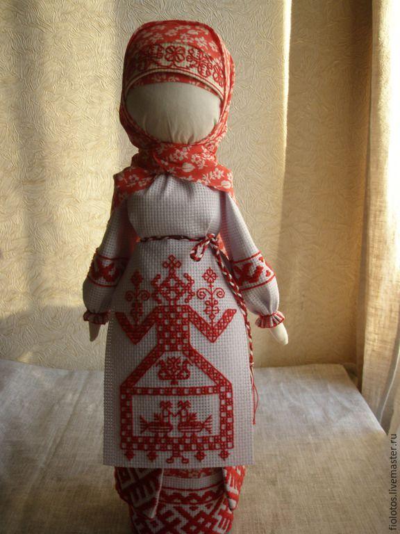 "Купить Кукла-оберег ""Макошь"" - ярко-красный, оберег, оберег для дома, обереги в подарок"