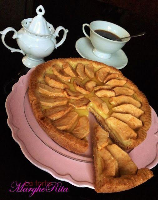 La Torta Margherita: Crostata di mele e crema al profumo d' arancia