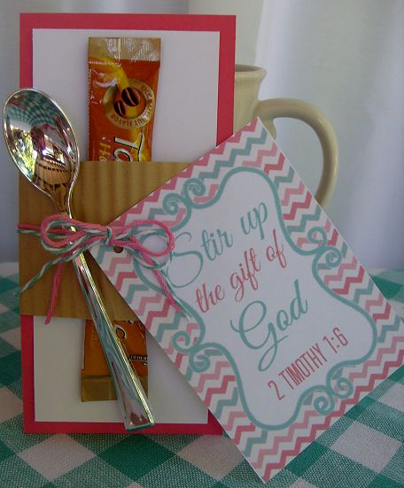 Stir Up the Gift of God Ladies Meeting Favor | Craft Ideas ...