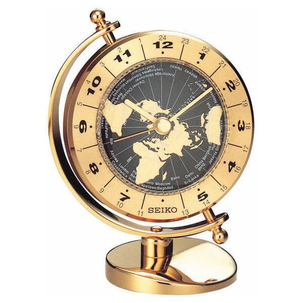 Seiko Clock - Executive Solid Brass World Time Desk Clock QHG106GLH (125 CAD) ❤ liked on Polyvore featuring home, home decor, clocks, brass home accessories, brass mantel clock, brass mantle clock, brass table clock and seiko watches