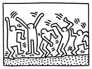 Coloriage Keith Haring 4