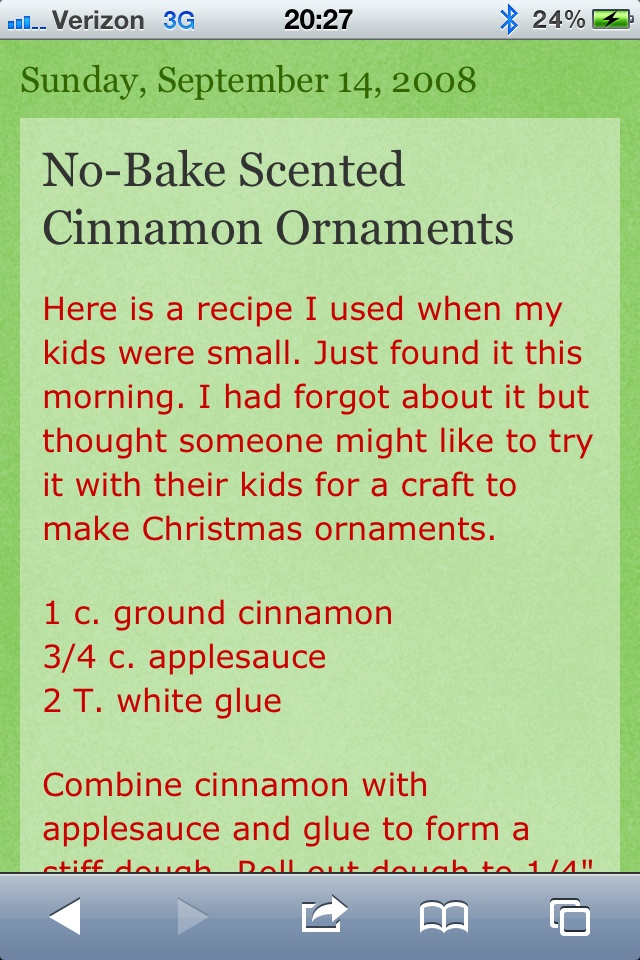 No bake cinnamon ornaments