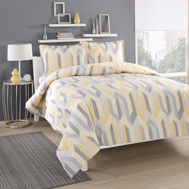 City Loft Limoncello Cotton Reversible Comforter Set
