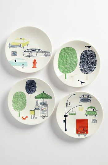 kate spade new york | hopscotch drive about town tidbit plates
