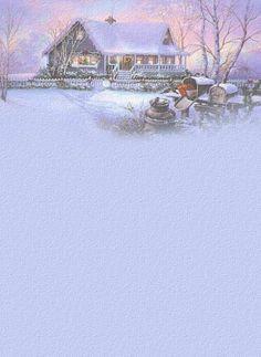 Briefpapier winterliche Landschaft zauberhaft schön