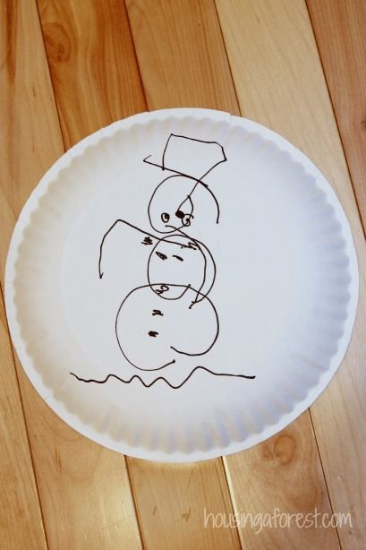 Christmas Party Games for Kids ~ Snowman drawing game