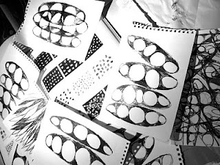 drawings from 'homage to the seed' project