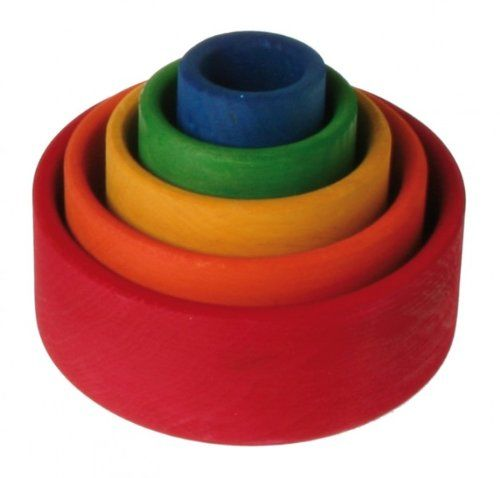 Grimm's Set of 5 Small Wooden Stacking & Nesting Rainbow Bowls, Red Outside Grimm's,http://www.amazon.com/dp/B001AZMLN8/ref=cm_sw_r_pi_dp_CXbwtb1YXSD65X0G