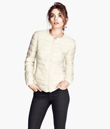 Lightweight Down Jacket - Cream - H&M $40