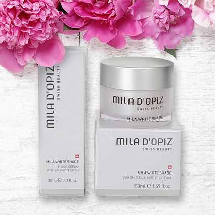 Mila d'Opiz Australia - White Shade Range nurture & moisturise your skin for an optimal radiance, younger & healthy appearance.
