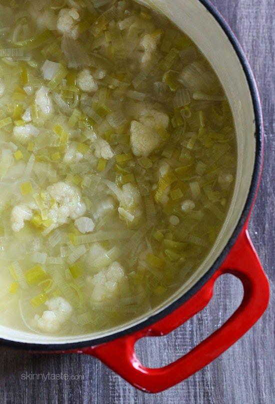 Cauliflower Leek Soup | Skinnytaste