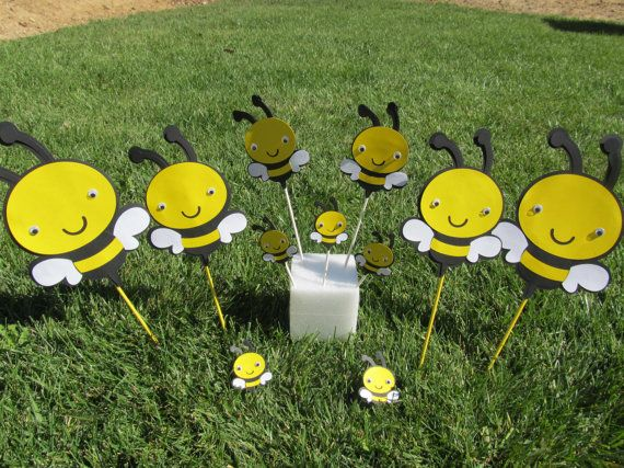 Bumble Bee Party Package Centerpiece Kit 30 Pieces Total Via Etsy