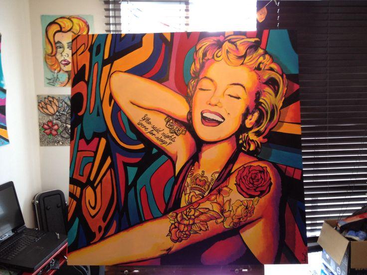 Marilyn Romero - 120x120 cm - acrylic & oil