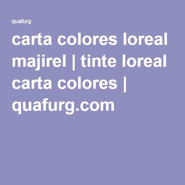 carta colores loreal majirel   tinte loreal carta colores   quafurg.com