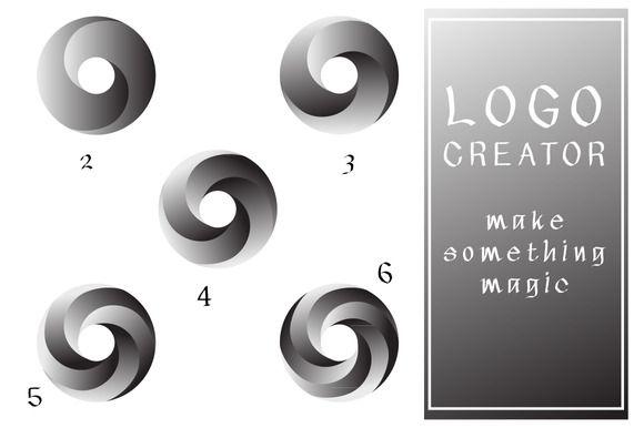 Round logo set by artskvortsova on @creativework247