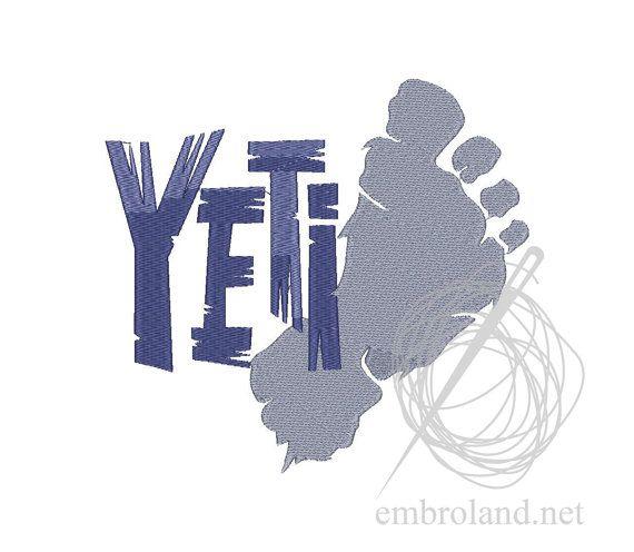 BigFoot Yeti Machine Embroidery Design Instant Download