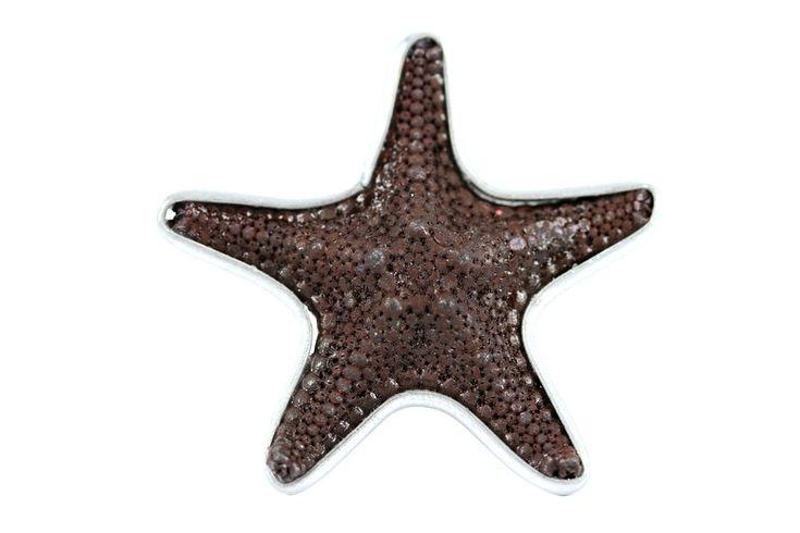 """""""Bague étoile de mer Sépia""""- Bague originale argent et acier"""
