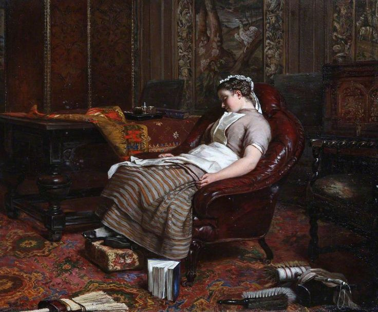 Patrick Allan-Fraser   (1813–1890)   Idleness  oil on canvas, 54 x 64.2 cm  Hospitalfield