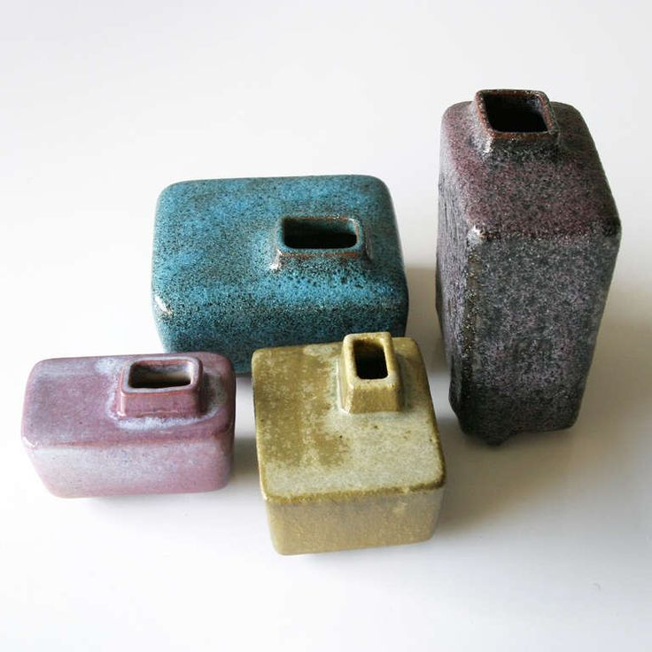 Pieter Groeneveldt; Glazed Earthenware Vases, 1950s. ceramics