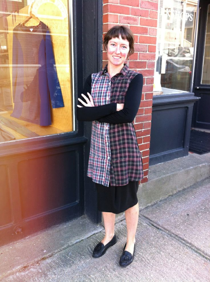 The Mauve Dress ($144) by Preloved is a long sleeved dress made from a lightweight jersey combined with two recycled flannel shirts.   A cozy dress for casual gatherings, cabin getaways, and channeling your inner lumberjack.