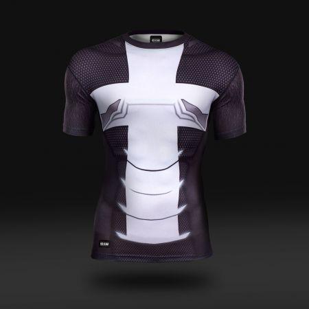 Koszulka sportowa Koszulka do biegania termoaktywna Pancerz Żuawa Śmierci - odzież sportowa Red is Bad