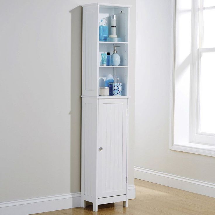 Best 25 tall bathroom cabinets ideas on pinterest - Tall bathroom storage cabinets with doors ...