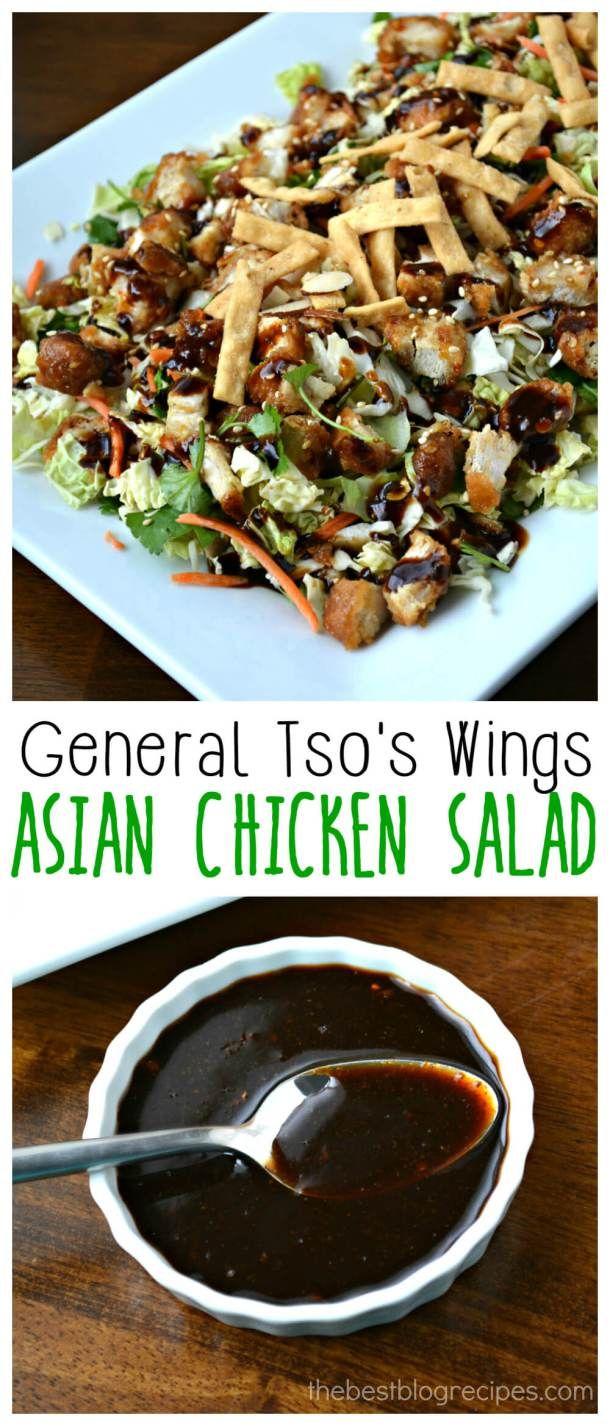 General Tso's Wings Asian Chicken Salad Recipe
