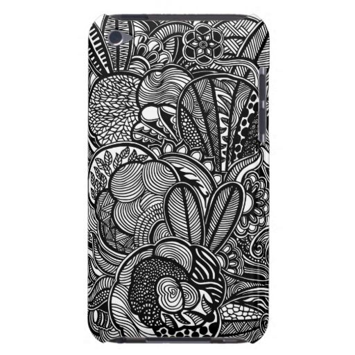 A unique Gardens #2 hand drawn art iPod case iPod Touch Case