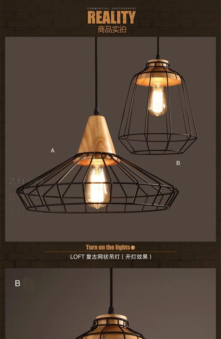 Aliexpress.com: Comprar 2015 nuevo! Vintage industrial restaurante lámparas habitación sala café luces Edison altillo de madera araña navidad de araña de luz fiable proveedores en Donghuang Lighting Co., Ltd