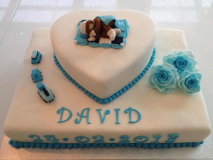 Baby shower cake Barnedåbs kage