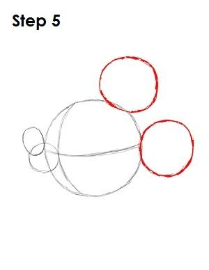 Draw mickey mouse step 5 how to draw cartoon for How to draw a cartoon mouse step by step