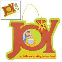 Joy nativity sign craft for kids christmas sunday for Christmas bible crafts for kids